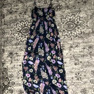 FOREVER 21 FLORAL SUMMER MAXI DRESS NAVY